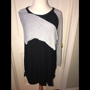 LuLaRoe 3XL Randy. Black with Gray sleeves
